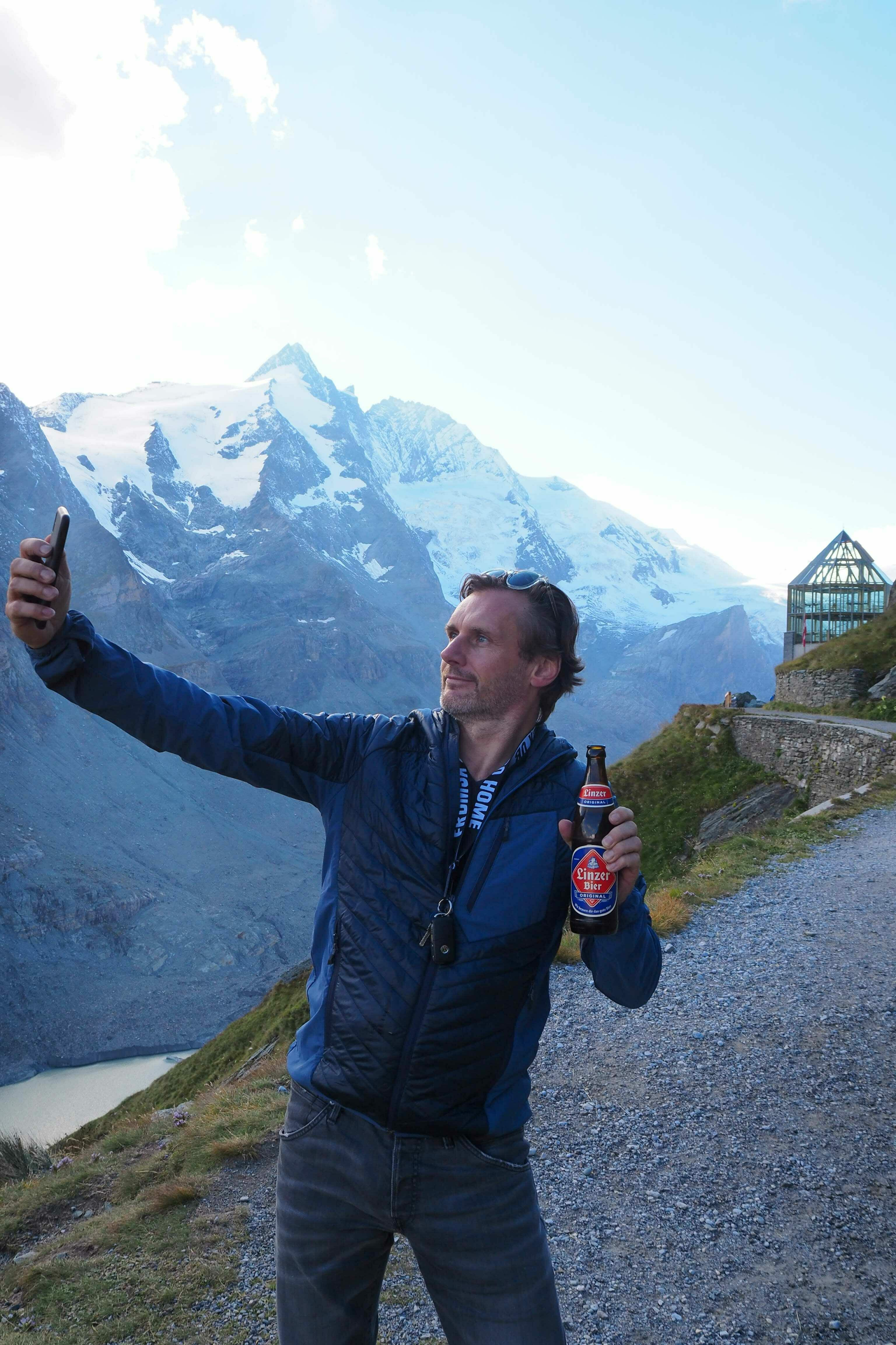 Glockner Andreas Linzer Bier Selfie