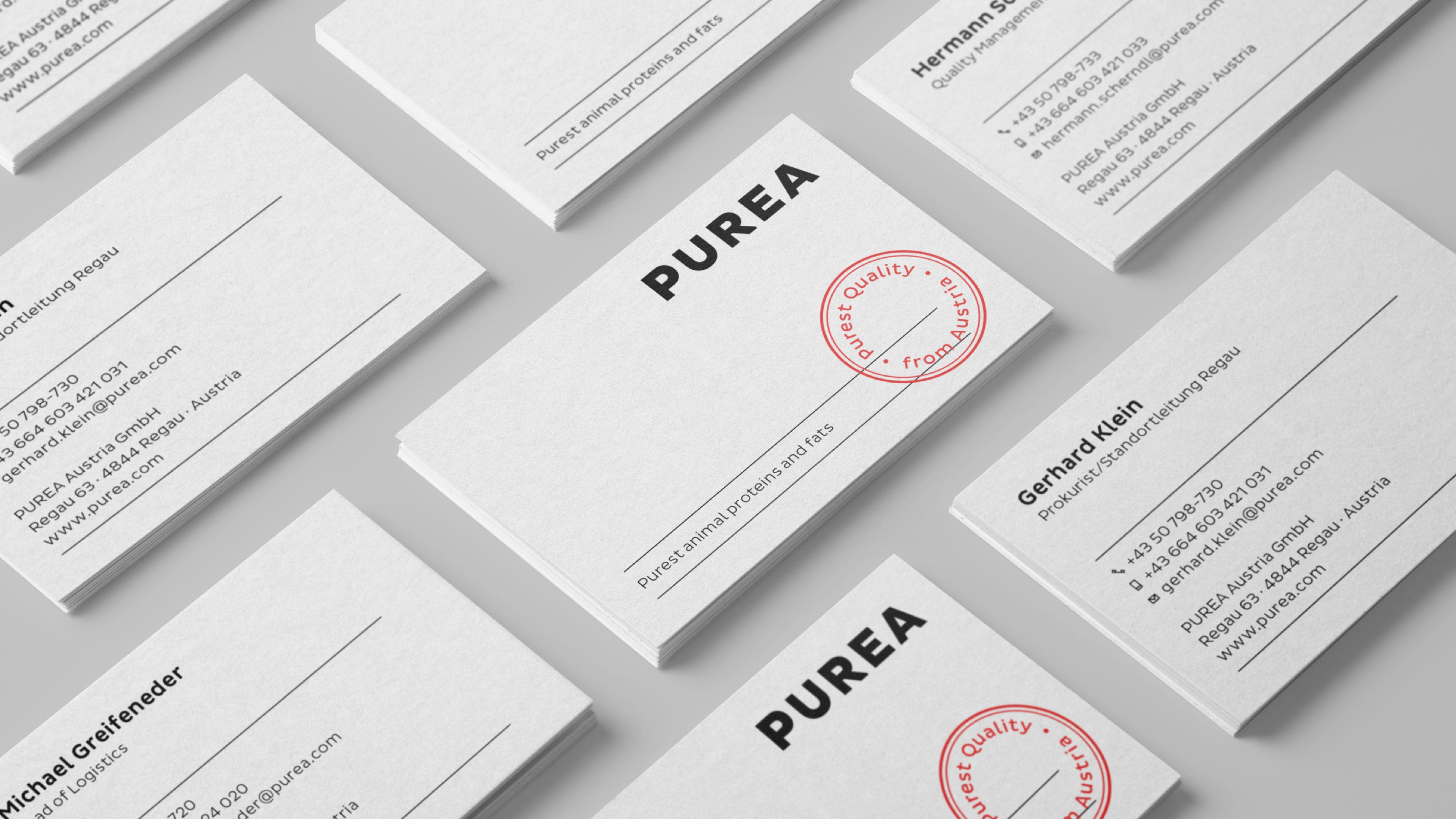 Ref PUREA 16 Visitenkarten