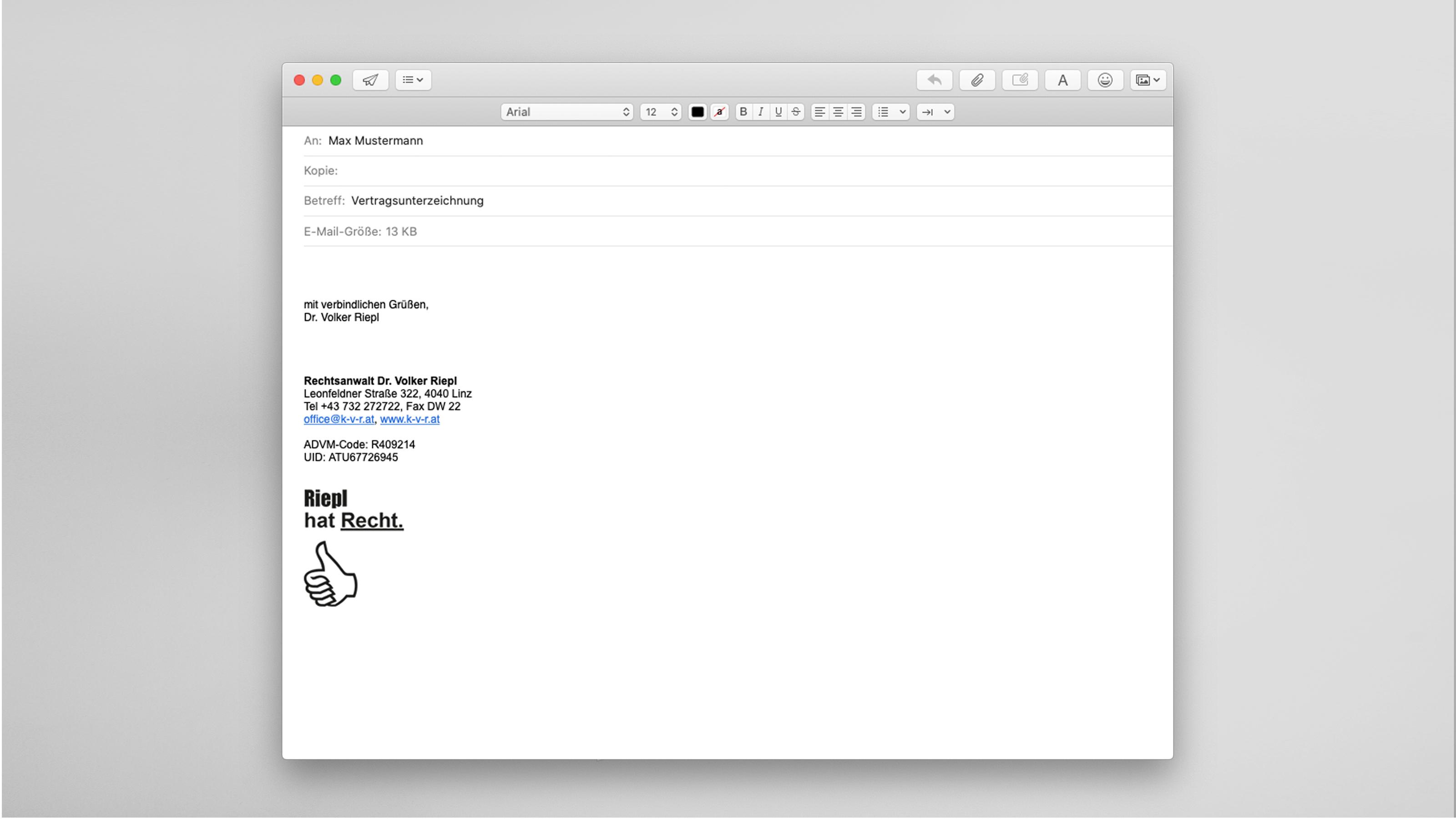 Riepl Referenz Emailsignatur