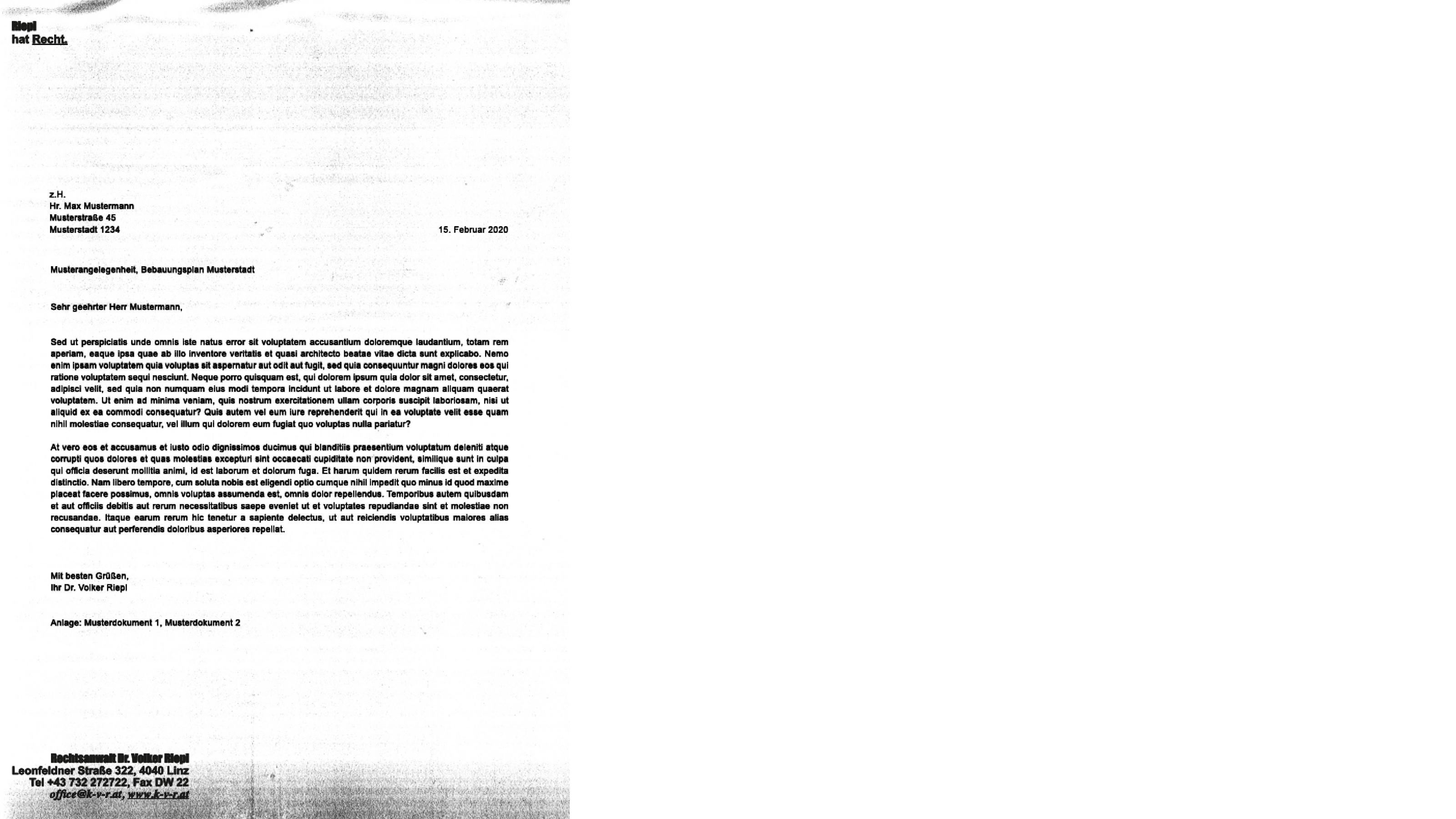 Riepl Referenz Fax2
