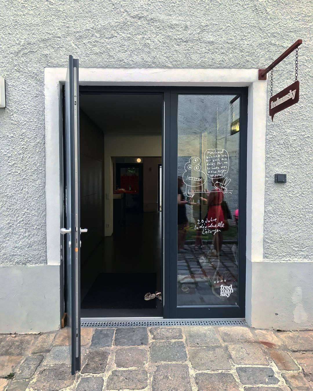 Innenhof Agentur-Büro in Linz