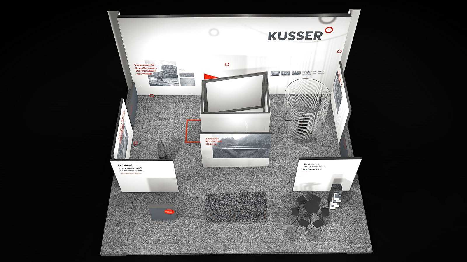 Kusser Messestand Konzeption