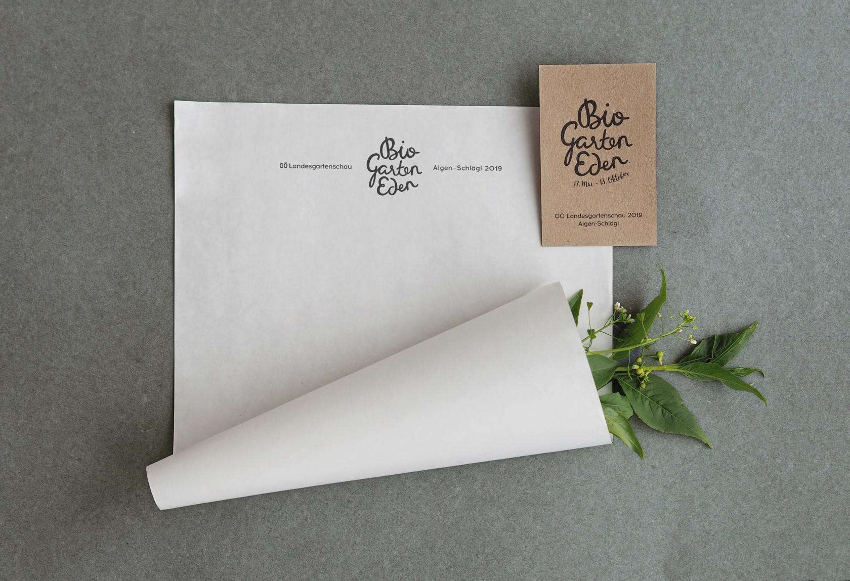 OÖ Landesgartenschau - Briefpapier und Visitenkarte