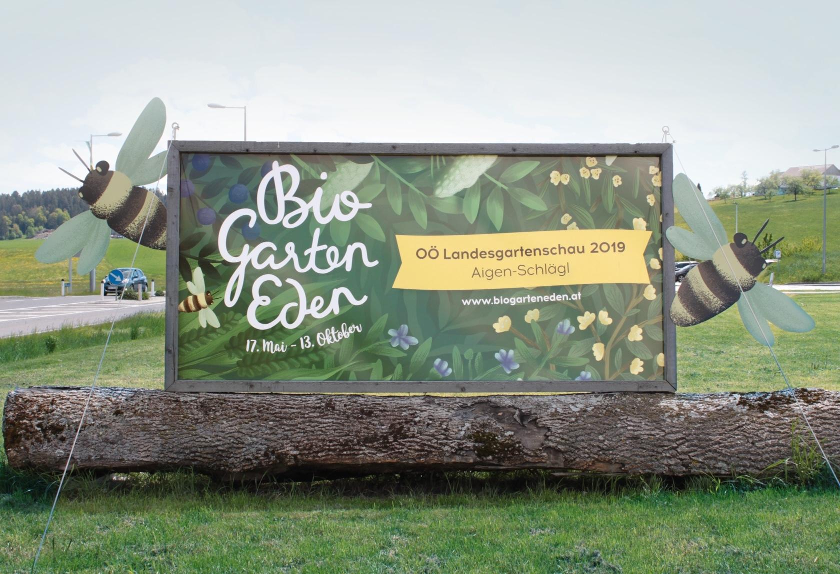 OÖ Landesgartenschau Transparent