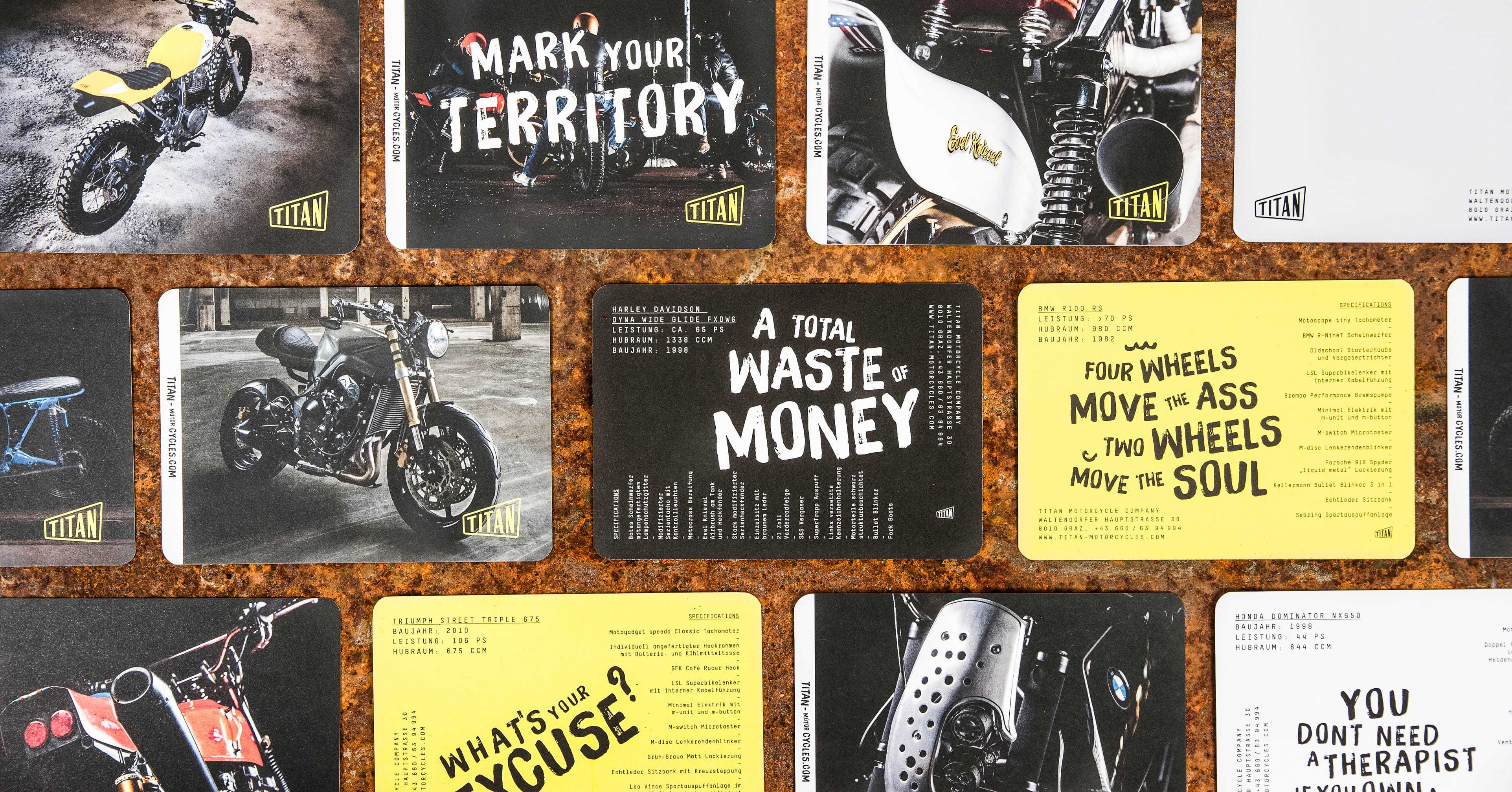 Titan Motorcycles Cards