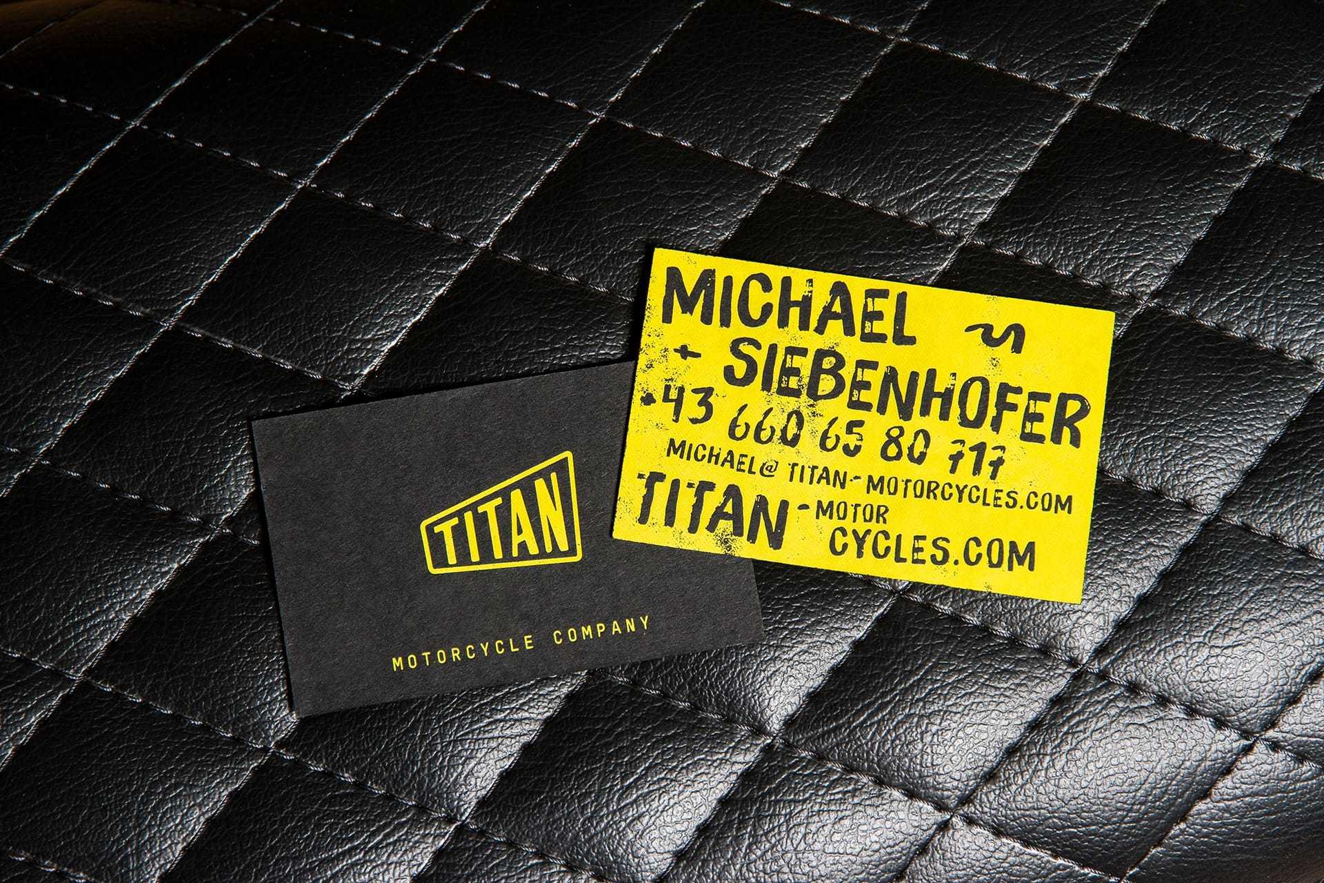 Titan Motorcycles Visitenkarten